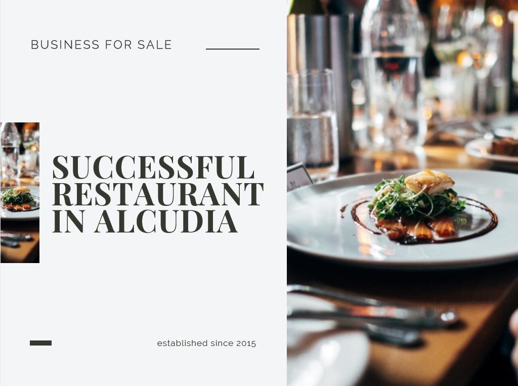 Superb Bar/Restaurant in Alcudia